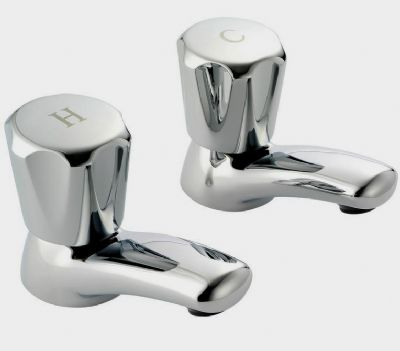 Pegler Performa Polo Round Top Chrome Basin Taps